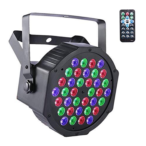 UKing Luci da Palco LED Par 72W RGB Fari da Palco con telecomando e DMX Luci da Discoteca per DJ Festa di Matrimonio Luci di Scena (1pcs)
