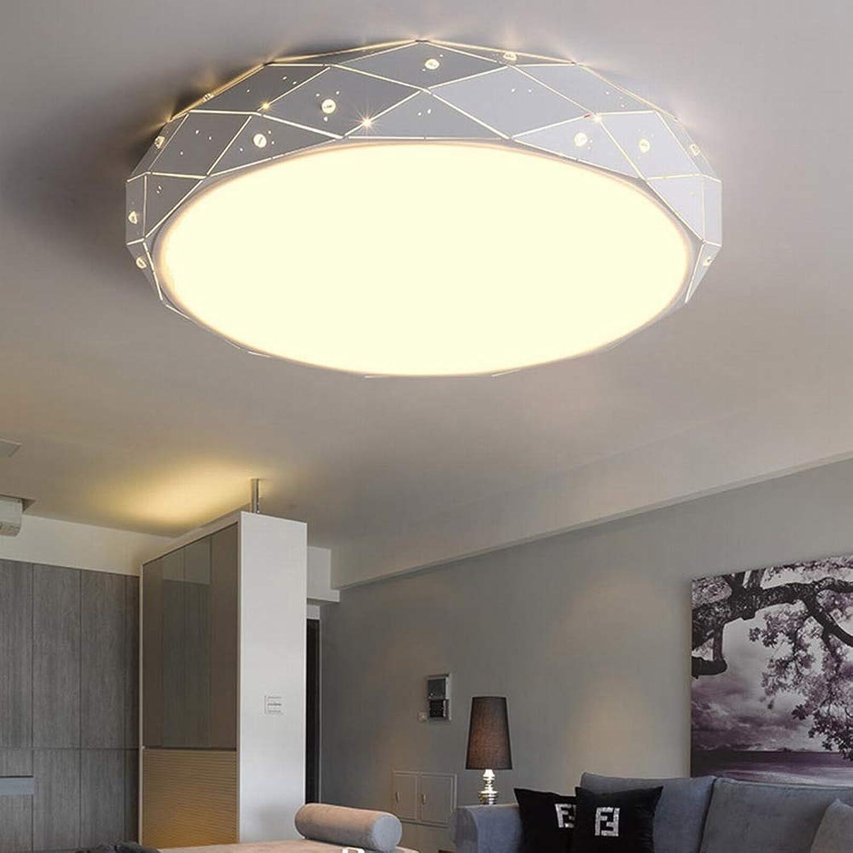 MackeJacke Kreative Runde Deckenleuchte des Wohnzimmers Led Glatte Unbedeutende Studie Acryllampen 45  45Cm Dreifarbiges Licht