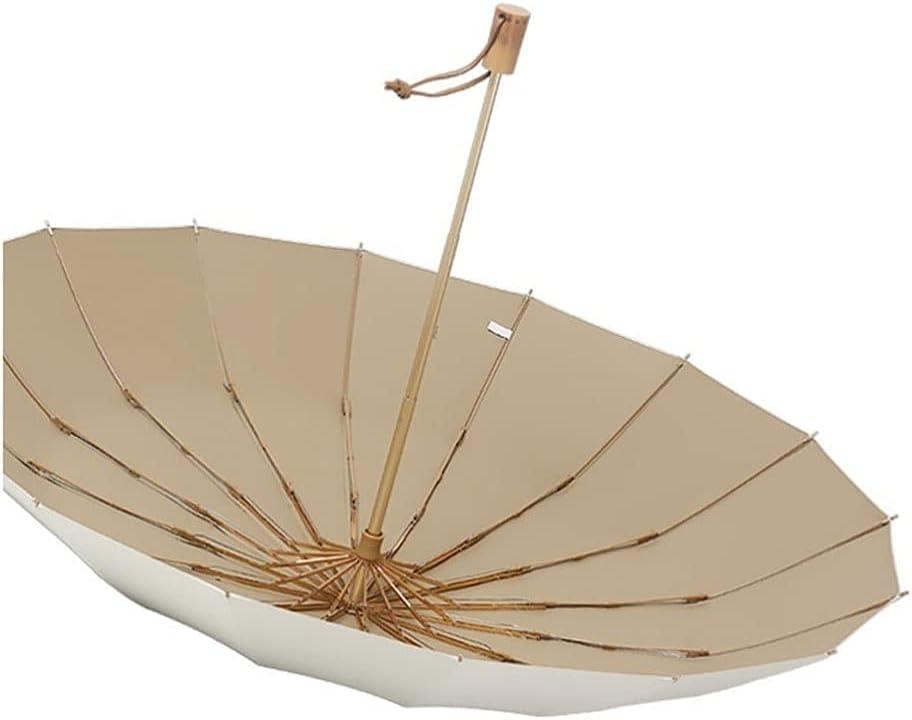 Paraguas Plegables Paraguas retro simple a prueba de viento del paraguas con la manija de madera paraguas plegable fuerte y portátil for al aire libre Paraguas para Hombres y Mujeres ( Color : Beige )
