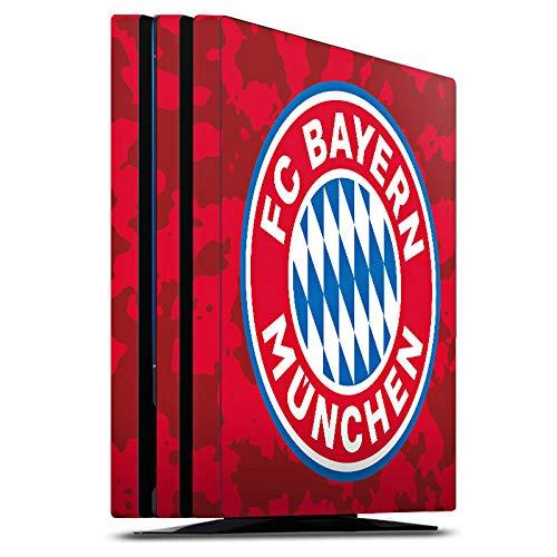 DeinDesign Skin kompatibel mit Sony Playstation 4 PS4 Pro Aufkleber Folie Sticker FC Bayern München Camouflage FCB