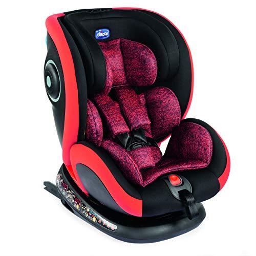 Chicco Silla de Auto Seat4Fix Poppy Red - Sillas de Coche, Grupo 0+/1/2/3, Unisex