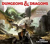 Dungeons & Dragons 2022 Deluxe Wall Calendar with Print: Cover Art from the 5th Edition