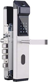 Biometrischer Fingerabdruck Code Glast/ürschloss Fingerabdruck T/ürzugriffskontrollsystem f/ür Home Office Elektronische Smart T/ürschloss