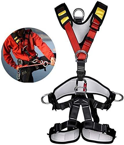 JTSYUXN Sicherheitsgurt absturzsicherung,,Klettergurt Ganzkörper Sicherheitsgurt,Baumklettern Ausrüstung für Outdoor
