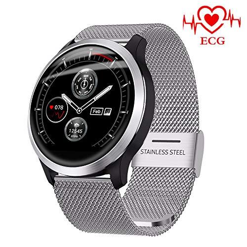 BEUHOME Smartwatch Z03, Bluetooth Smart Watch Fitness Tracker Armband Sport Uhr ECG PPG Pulsuhren Schrittzähler Schlafmonitor mit IP68 Wasserdicht Schwimmen Blutdruckmessung für iOS Android