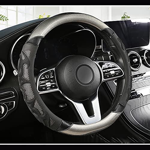 HJPOQZ Cubierta del Volante del Coche De Cuero Tipo O, para Buick Regal Encore Lacrosse Excelle XT Verano EnclavePlateado