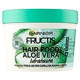 Garnier Fructis Hair Food Aloe Vera Maschera Riparatrice 3 in 1 con Formula Vegana per Capelli Danneggiati
