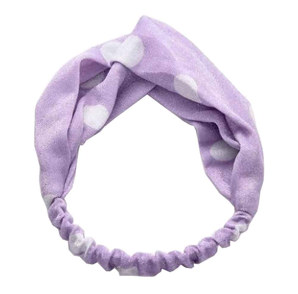 Women's Headbands Vintage Flower Printed Elastic Head Wrap #15