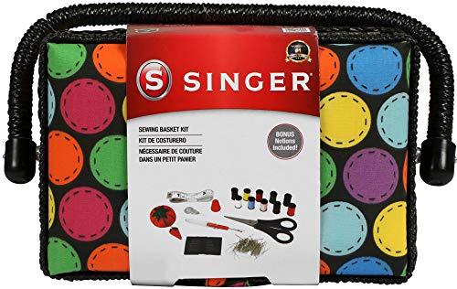 SINGER Polka Dot Small Sewing Basket
