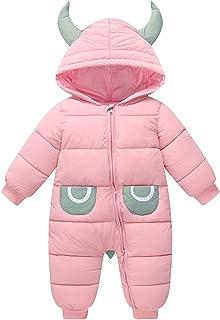 الشتاء طفلة بوي ماء رومبير الوليد snowsuit طفل بذلة الثلوج دعوى وزرة (Color : Pink, Size : 9M)