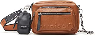 Desigual Womens BOLS_Embossed HAL Across Body Bag, Brown, One Size