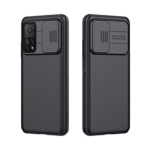 For Xiaomi Mi 10T 5G Case Mi 10T pro 5G Cover, Nilkkin CamShield Pro Slim case Protective Cover with Camera Protector Hard PC and TPU Ultra Thin Anti-Scratch Phone Case for MI10T/Mi 10t Pro 5G (Black)