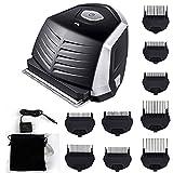 Self-Haircut Kit with 9 Limited Combs, Lithium Max Power Hair Clippers Hair Trimmers, Waterproof Portable Hair Beard Trimmer Cordless Shortcut DIY Hair Cutter