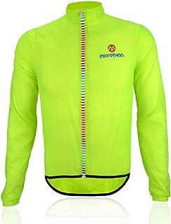 Morethan ウインドブレーカー サイクル ジャケット 超軽量 防風 撥水 バックポケット付き メンズ WVP-007
