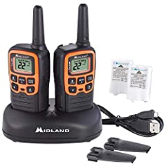 2-WAY RADIOS - These license-free walkie-talkies feature the standard 22 FRS/GMRS (Family Radio Service) channels, along with channel scan to check for activity. 28-MILE RANGE - Longer range communication in open areas with little or no obstruction. ...