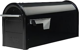 Best Gibraltar Mailboxes Franklin Medium Capacity Galvanized Steel Black, Post-Mount Mailbox, FM110B00 Review