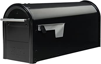 Gibraltar Mailboxes Franklin Medium Capacity Galvanized Steel Black, Post-Mount Mailbox, FM110B00