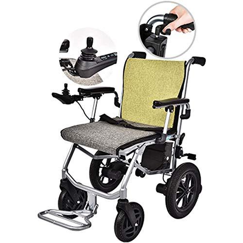 YDBET Elektro-Rollstuhl Motorisierte, faltbar und leicht betriebenes bewegliches Rollstuhl, 4 Wheel Automatische Intelligente Leistungsstarke Dual-Motor Rollstuhl,Dual Control