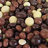 Gourmet Chocolate Covered Espresso Beans Medley by Its Delish – 1 LBS Bulk Bag – Premium Kosher Dairy Mix of Dark, Milk & White Chocolate Covered Coffee Beans