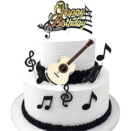 Decoración Para Tarta De Guitarra Eléctrica Con Base De Recuerdo Gratuita Música Banda Guitarrista Música Cumpleaños Feliz Cualquier Edad Personalizable Decoración De Fiesta Recuerdo Grocery Gourmet Food