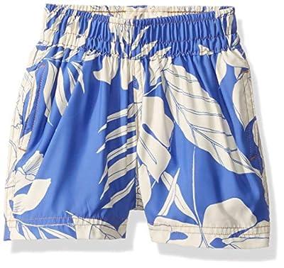 Maaji Boys' Print Mixed Elastic Waist Swimsuit Trunks, Jungle Boogie Blue Palm Leaf, 4-6