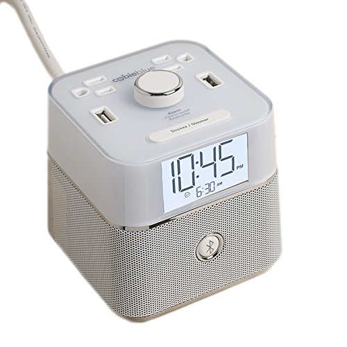 Brandstand | CubieBlue White | User Friendly & Convenient Alarm Clock Charger | 2 ...