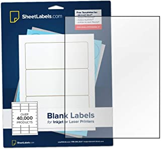Clear Sticker Paper, Full-Sheet Labels, 8.5