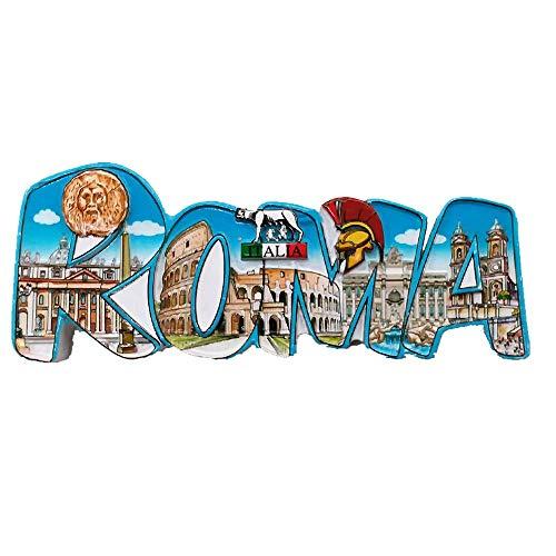 Roma Italia Magnete da frigorifero 3D da viaggio, souvenir da viaggio, collezione regalo, decorazione per la casa e la cucina, magnete per frigorifero