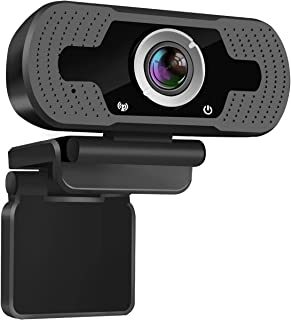 Webcam HD 1080p Web Camera,with Stereo Microphone PC Desktop Laptop USB Tablet Webcam for...