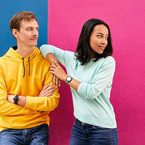 Withings Move Actividad-Seguimiento de Pasos, calorías y sueño-Reloj Resistente al Agua, GPS Conectado y cronómetro, Unisex-Adult, Black & Yellow - Silicone Wristband, 38mm