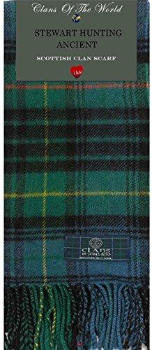 I Luv Ltd Stewart Hunting Ancient Tartan Clan Scarf 100% Soft Lambswool