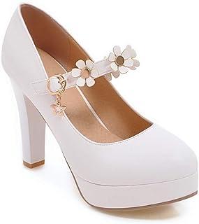 BalaMasa Womens APL12245 Pu Heeled Sandals