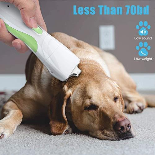 Tijeras de corte del pelo de perro Clippers de herramientas, de la pata Tidy Trimmer for Mascotas-Profesional animal doméstico eléctrico de la máquina de afeitar de pelo con 4 peines de la Gua