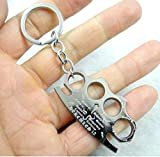 Schlüsselanhänger Style: Schlagring Metall Geschenk für Männer | Kampf | Giveaway