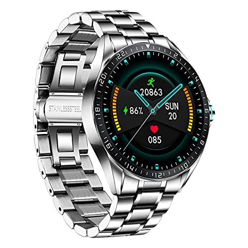 LIGE Herren Smart Watch, IP67 wasserdichte Fitness Tracker Uhren mit Herzfrequenz Blutsauerstoff Blutdruck Überwachun Voll Touchscreen Smartwatch Edelstahlband…
