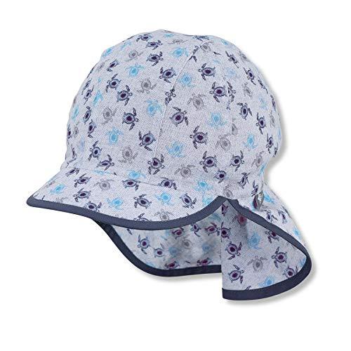Sterntaler Baby-Jungen m 1612134 Schirmmütze mit Nackenschutz, blau, 45