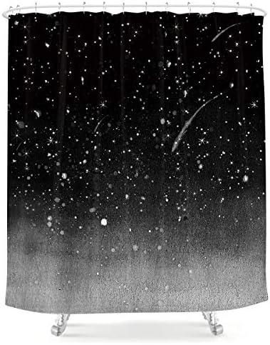 LIGHTINHOME Night Starry Sky Shower Curtain Stars Fantasy Galaxy Universe 60Wx72H Black Cosmic product image
