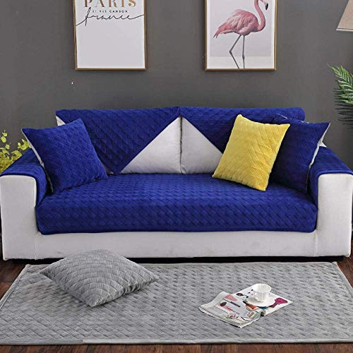 HYRGLIZI Toalla de sofá Antideslizante Moderna, Funda Protectora Corta de Felpa para sofá, Fundas de sofá Acolchadas, Fundas de sofá Modernas, Manta de sofá Antideslizante Gruesa para Primavera otoño