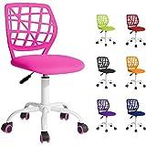 Beltom Sedia ergonomica da scrivania cameretta Computer casa Studio Ufficio Studenti Adolescenti, Ideale per Bambini. Regolabile in Altezza e Girevole a 360° - Rosa