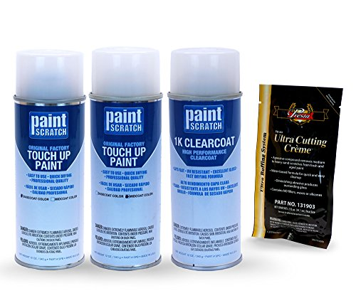 PAINTSCRATCH Touch Up Paint Tricoat Spray Can Car Scratch Repair Kit - Compatible/Replacement for Mercedes-Benz S-Class Diamond White Tricoat (Color Code: 799/9799)