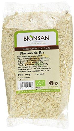 Bionsan - Flocons de riz biologiques | 6 sachets de 500 gr | Total : 3000 gr