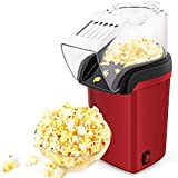 Hot Air Popper, Electric Popcorn Maker Machine with 1200W, No oil needed, Healthy and Delicious Snack for Kids, Adults. Great for Holding Parties in Home and Watching Movies with Family
