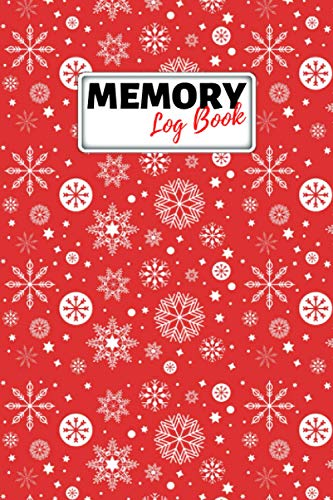 Memory Log Book Journal: Glamping Keepsake Memory Book with Prompts to Write in for Travel Adventure Notes, Record Memories Every Day of the Year! - Christmas Ornaments Red Cover Diary