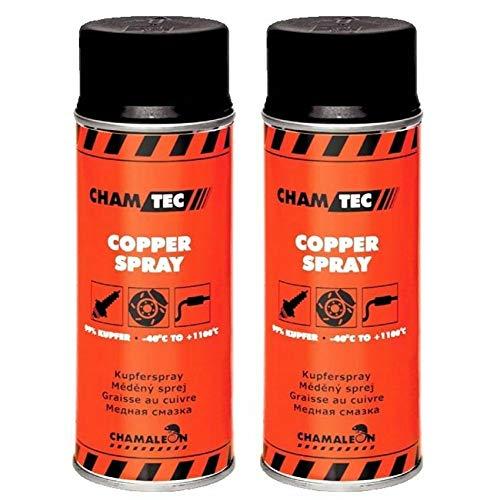 Chamäleon Protección contra la corrosión, spray de cobre 2 x 400 ml, grasa de cobre, lubricante 1K