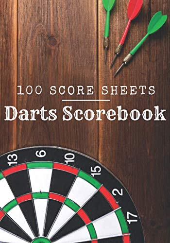 Darts Scorebook: Darts Log Book | 100 Dart Score Sheets for 300 Games | Up to 5 players per Game | 7