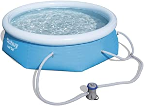 Bestway 8ft x 26in Fast Set Inflatable Above Ground Swimming Pool w/Filter Pump