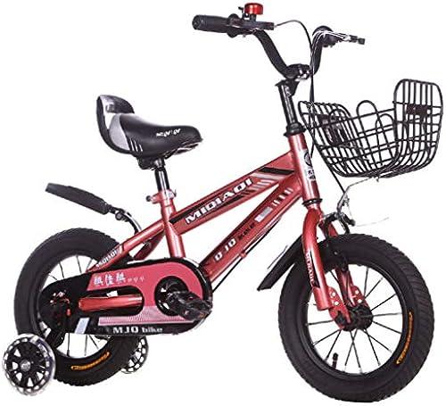 FAHBN Kinderfürrad 14-16-18 Zoll M licher Und Weißicher Kinderwagen 6 Jahre Altes Mountainbike-Kind Vier Radfürrad