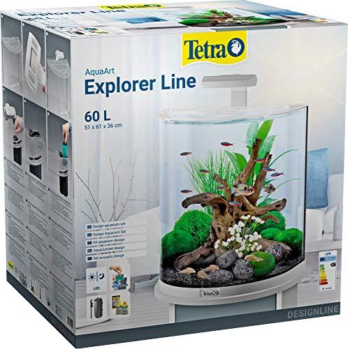 Tetra AquaArt Explorer Line Aquarium-Komplett-Set 60L, Weiß