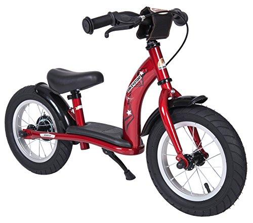 BIKESTAR Bicicleta sin Pedales para niños y niñas | Bici 12 Pulgadas a Partir de 3-4 años con Freno | 12' Edición Clásica Rojo