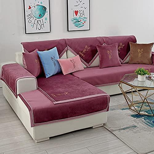 elegante Funda de sofá, Algodón Lavable Funda De Sofá para L-sofá En Forma Reposabrazos Respaldo Cubierta,Cubierta del sofá del protector del sofá del sofá del sofá de algodón (solo 1 pieza / no todo